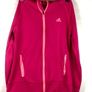 Adidas hot pink climawarm hoodie size medium